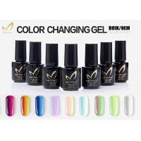 Green Mood Color Changing Nail Polish Gel , Color Shifting Salon Gel Nail Polish Manufactures