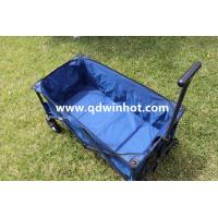 Outdoor Collapsible Folding Utility Wagon Camping Beach Wagon Navy Blue Manufactures