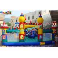 OEM Safety Inflatable Amusement Park Play Structures 14L x 7W x 5H Meter Manufactures