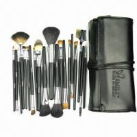 China Professional High-quality New Design 22 Pieces Sable Hair Cosmetic Brush Set, Black Color  on sale