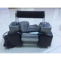 Quality Two Cylinder Strong Inflator Car Air Pump Steel Material , Clip Or Cigarette Lighter Power for sale