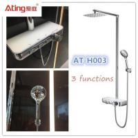 China AT-H003 thermostat controlled shower valves #304 SS Luxury Rainfall Shower faucets with hand shower water outlet on sale
