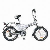 20-inch Foldable E-bike with Lithium Battery (36V/10Ah), V-brake, LED Meter and Shimano 6 Speed Manufactures