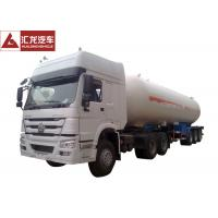 25 Tons LPG Tanker Truck , White LPG Transport Truck  Lean Alloy Steel Tank High Reliability Manufactures
