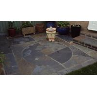 China Rusty Multicolor Slate Medallion Floor Tile Set Square Pattern Natural Paving Stone on sale
