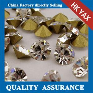 China Factory rhinestone point back, loose pointed back rhinestone,glass point back rhinestone Manufactures