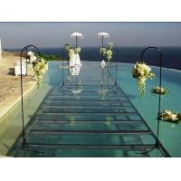 Swimming Pool Toughened Glass Stage 1.22 X 1.22M For Wedding Manufactures