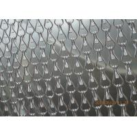 Silver Insect Mosquito Aluminium Fly Screen Chain Curtain , Aluminum Mesh Screen Manufactures