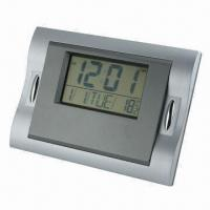 China Atomic Digital Wall Clock with Big LCD Screen Display and Radio Controlled Clock on sale