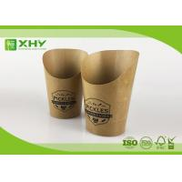 Custom Logo Printed Kraft Paper French Fries Cups BRC Certificated 9oz Manufactures