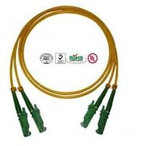 China 0.9mm PVC E2000 Fiber Optic Patch Cables Single Mode Double Cores on sale