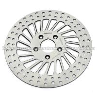 Classic Silver Front / Rear Brakes And Rotors For Harley Davidson Custom Parts Manufactures