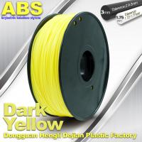 Dark Yellow ABS  Filament ,  Filament 3D Printing Plastic Material 1.75 / 3mm Manufactures