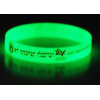 Silicone Glow In The Dark Wristbands / Bracelets With 1 Color Silk Printed Manufactures