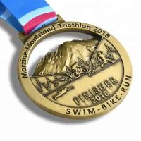 Gold Finishing Boston 3d Printed Medals / Marathon Sports Award Medals Manufactures