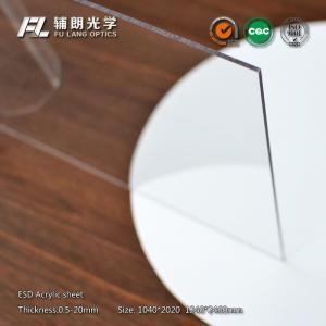 16mm Custom Cut Acrylic Sheets High Light Transmission Rate , 91.5% Transmissivity Manufactures