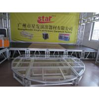 Quality Black Glass Square Acrylic Stage Platform Anti-slip For Evens for sale