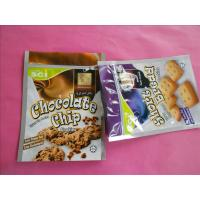 OEM Stand Up Zipper Cookies / Snack Bag Packaging with Zip Top Manufactures