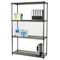 Quality Carbon Steel Adjustable Wire Shelving Unit 4 Layers  In Work Place for sale