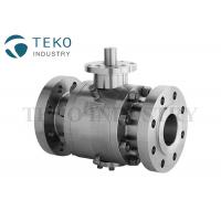 China Flange Type API 6D Fire Proof Stainless Steel Trunnion Isolation Ball Valve on sale