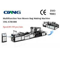 China Eco Recycled Automatic Non Woven Bag Making Machine , Carry Bags Manufacturing Machines on sale