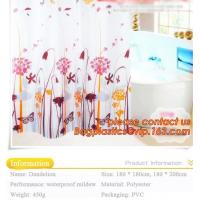 EU and USA best choose and fashionable priting YOUR LOGO shower curtain, bath