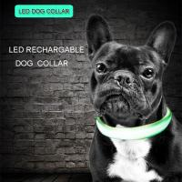 C906 Wholesale Factory Cheap Price C906 Luminous Nylon Pet USB Rechargeable Led Dog Collar for safety Manufactures