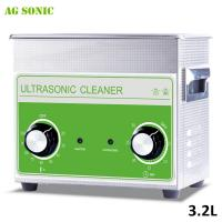 Medical & Dental Lab Stainless Steel Ultrasonic Cleaner Digital Heated 3.2 L With Basket Manufactures