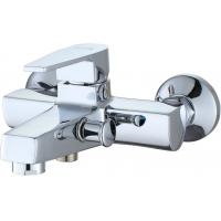 Bathtub Bathroom Sink Faucets Chrome Polished  Wall Mounted Type Manufactures