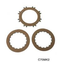 High-strength aluminum alloy motorcycle parts clutch plates friction with 17 teeth C70 Manufactures