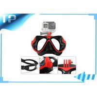 China ABS Red Snorkeling Full Face Scuba Diving Mask Adjustable Buckle For Adult on sale