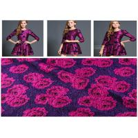 560g/M Vintage Rose Print Fabric , Roll Dyed Wool Print Fabric Anti Static Manufactures