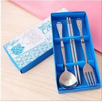 Buy cheap Stainless Steel Portable Spoon Chopsticks Forks Cutlery Set Student Children Adult Single Two or Three Sets from wholesalers