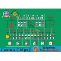 100% Polyester Fabric Casino Table Layout ,  High - Density Waterproof Entertainment Tablecloth Manufactures