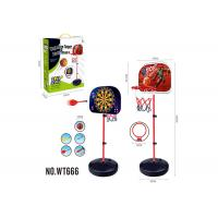 Portable 2 In 1 Magnetic Dart And Little Tikes Adjustable Basketball Hoop