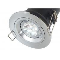 Quality Fixed Recessed Fire Rated Downlight - GU10 LED Spotlights - White Nickel Chrome for sale
