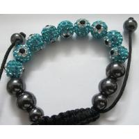 Cheap Jewelry Shamballa Beads Bracelets with Mix Color Crystal Balls as Friendship Gifts Manufactures