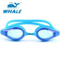 Blue Hypoallergenic Silicone Swimming Goggles For Kids And Early Teens Manufactures