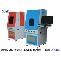Quality Highly Efficient Fiber Laser Marking Machine With Protective Shave Stop Laser Reflection for sale