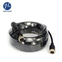 Waterproof IP67 Aviation 4 PIN 12MM Male To Male Cable For Heavy Duty Vehicles Camera Manufactures