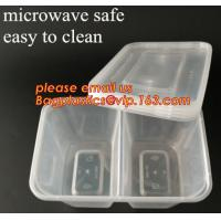 Disposable Plastic 4 Compartment Food Thermal Lunch Container Box,Plastic Takeaway Food Box with conjoined cover bagease Manufactures