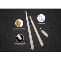 China Champagne Disposable Micropigmentation Pen Manual Eco - Holder With Pigment Brush on sale