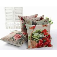 Flower print floral cushion,Italy Pisa leaning tower cushion,handmade cotton linen cushion Manufactures