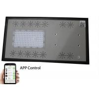 IP65 All In One Solar Street Light With Blue Strip , Smart Mobile Phone App Control Manufactures