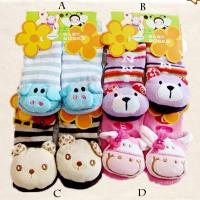 Custom cute animal pattern organic cotton pink Knitted tube sock for kids Manufactures