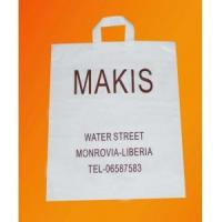hdpe Clear / Semi - Transparent Reusable Grocery Shopping Bags with soft loop handle Manufactures