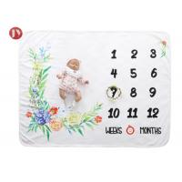China Custom Cotton Fleece Baby Blanket ,Echo-Friendly Lovely Growth Record Baby Milestone Blanket on sale