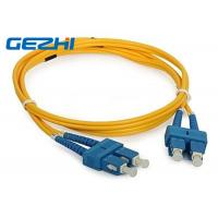 3D Passed Fiber Optic Network Components SC / UPC - SC / UPC Single Mode Fiber Jumpers Manufactures
