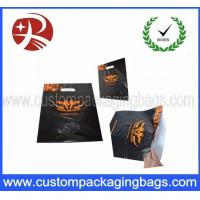 China Black Recyced Die Cut  Plastic Bags With Logo Printing , Customized on sale