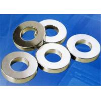 VDA6.3 Strong Power Neodymium Donut Shaped Magnets High Strength Gold Plated Manufactures